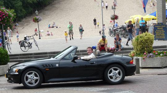 BMW Z3 voor klimduin