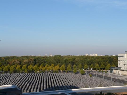 Berlijn uitzicht Holocaust monument