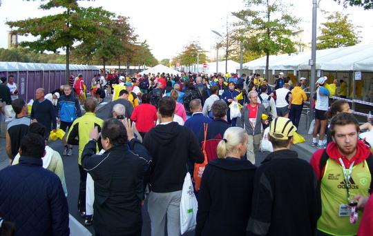 Startveld voor Berlijn marathon